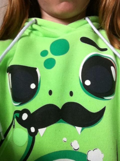 I luv my sweater from urban planet #urbanplanet #animatedsweatshirt #yolo #mustache