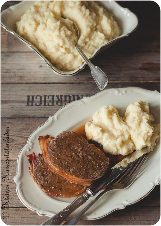 Apple Bacon Bomb mit Pastinaken-Kartoffel-Püree