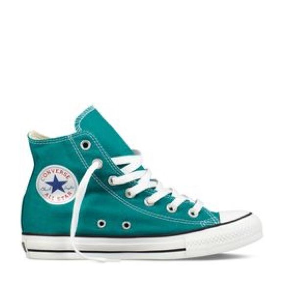 Real High Top Chucks Converse Worn a handful of times, but in great condition! Converse Shoes Sneakers