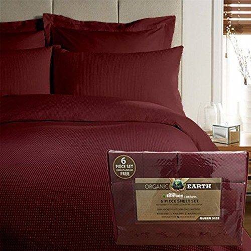 Searching bedroom decorating pictures. Organic Earth Aloe Vera Bamboo 1800 Series 6 piece Sheet Set King (King, Burgundy) - http://aluxurybed.com/product/organic-earth-aloe-vera-bamboo-1800-series-6-piece-sheet-set-king-king-burgundy/