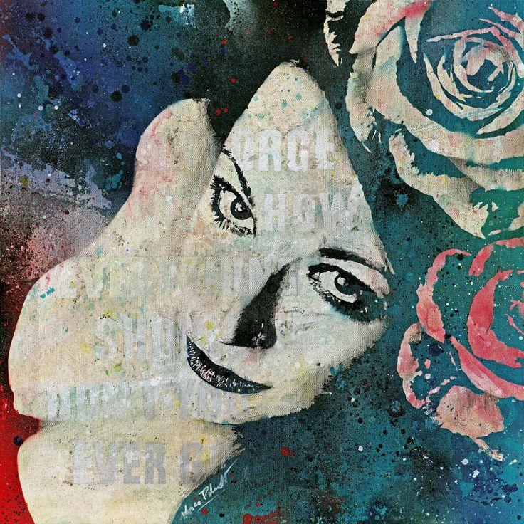 """Sick On Sunday"" original canvas painting • Model: Sabine • SHOP: https://www.etsy.com/it/listing/246731271/ritratto-di-donna-quadro-moderno?ref=shop_home_active_20 • #art #arte #painting #dipinto #quadro #graffiti #graffitiart #spraypaintart #floral #flowers #roses #rose #floreale #fiori #occhi #ragazza #eyes #girl #etsy #etsysale #etsyshop #canvas #tela #canvaspainting #beautifulgirl #cute #sexy #bellezza #model #modella #kissmyart #acrylic #acrilico #acrylicpainting #artemoderna…"