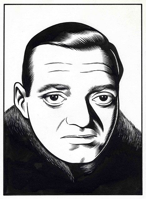 Peter Lorre by Charles Burns