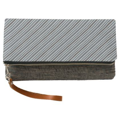 Black to Gray Stripes Clutch - diy cyo customize create your own personalize