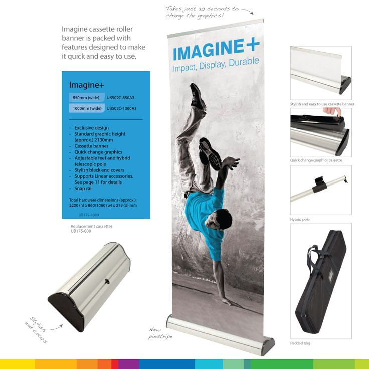 Our best selling pull-up banner! Light and easy to assemble, its perfect for festivals, exhibitions and general business promotion!
