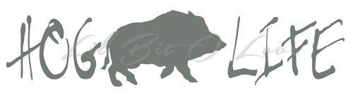 Hog Life Design 1 Vinyl Decal with Hog sticker for car auto vehicle   LilBitOLove - Housewares on ArtFire