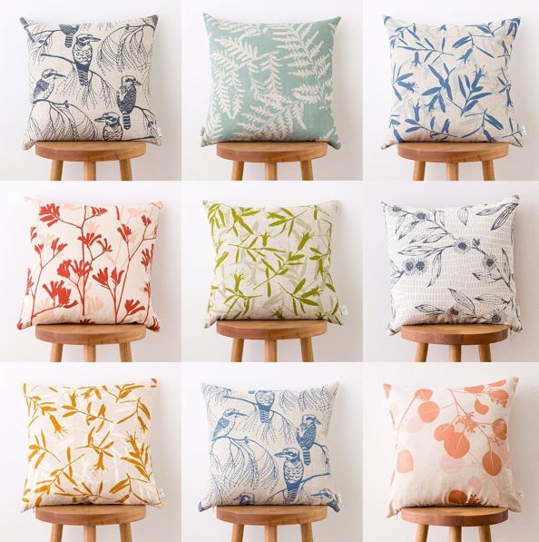 Ink and Spindle cushions