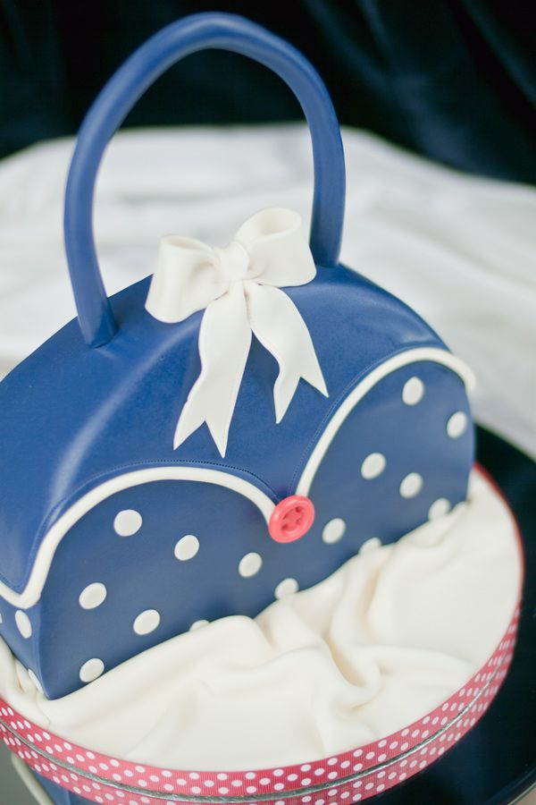 Polka Dot Handbag Cake Party Ideas Pinterest Cakes And Birthday