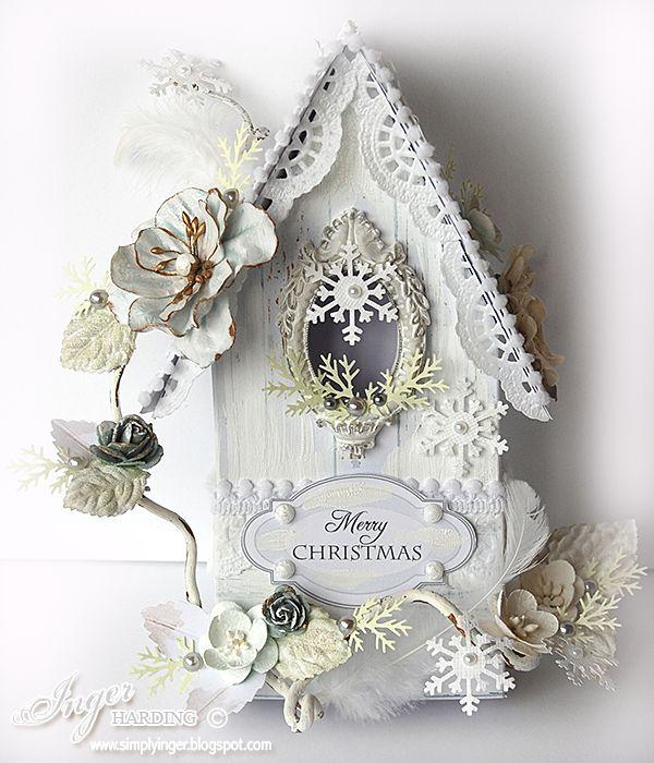 Christmas Birdhouse by Inger Harding