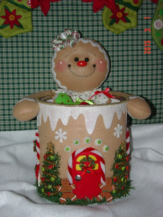 Felt Gingerbread Candy and Cookie Holder