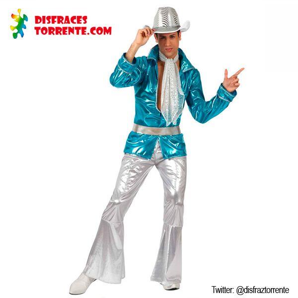 $16.50 Disfraz hombre Discoteca años setenta. Imprescindible para fiestas temáticas de Fever Disco. Desata al Travolta que llevas dentro en plena fiebre del Sábado noche. Mueve caderas Tony Manero!