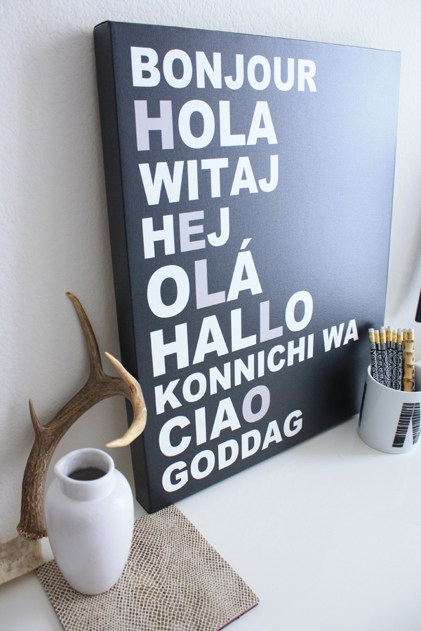 HELLO LANGUAGES CANVAS/MOUNTED