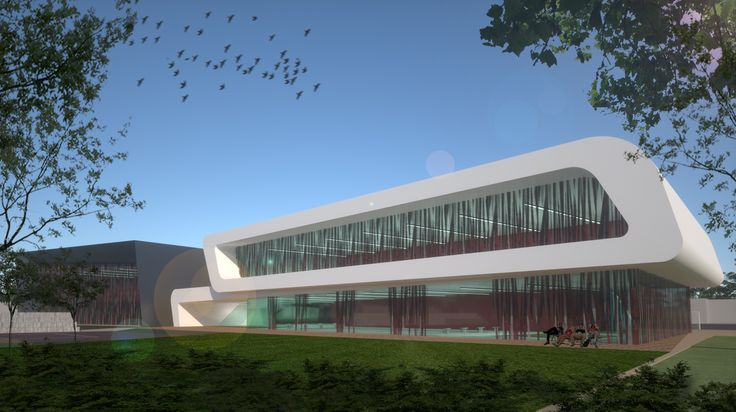 Tennis, sport and swimming center in Groznij designed by 4D Architects sport stadium modern facade