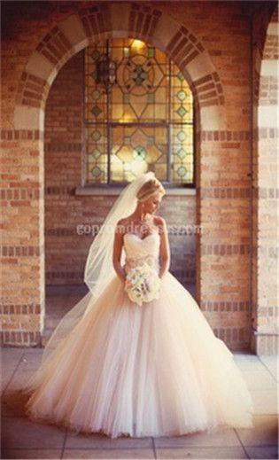 Ein beeindruckendes Prinzessinnen-Brautkleid.