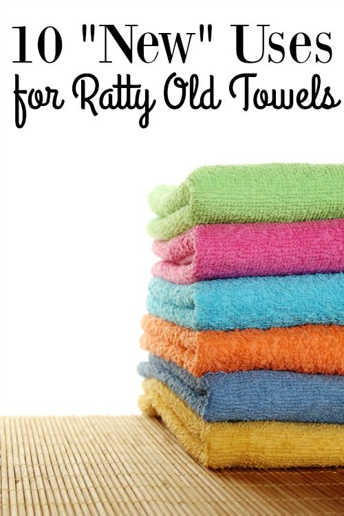 "Have a linen closet full of ratty old towels? Upcycle them to save money with these 10 ""New"" Uses for Ratty Old Towels!"