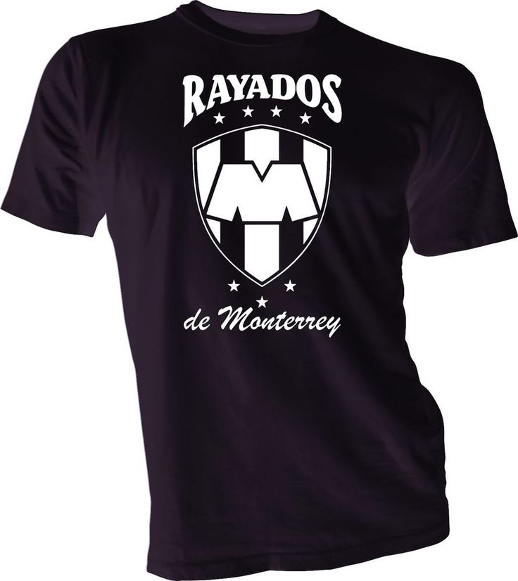 Rayados de Monterrey Mexico Futbol Soccer T Shirt Camiseta Jersey tee handmade #Handmade #GraphicTee
