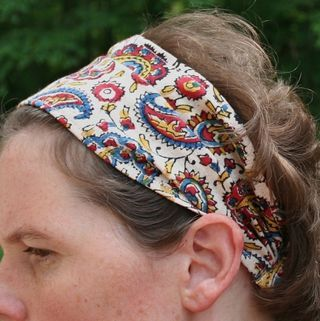 cloth headband - thinking of making some for cover during the Great Gray Hair Grow Out.