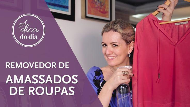 Mistura para remover amassados de roupas sem precisar passar (também serve como líquido facilitador para passar roupas) - #aDicadoDia com Flávia Ferrari