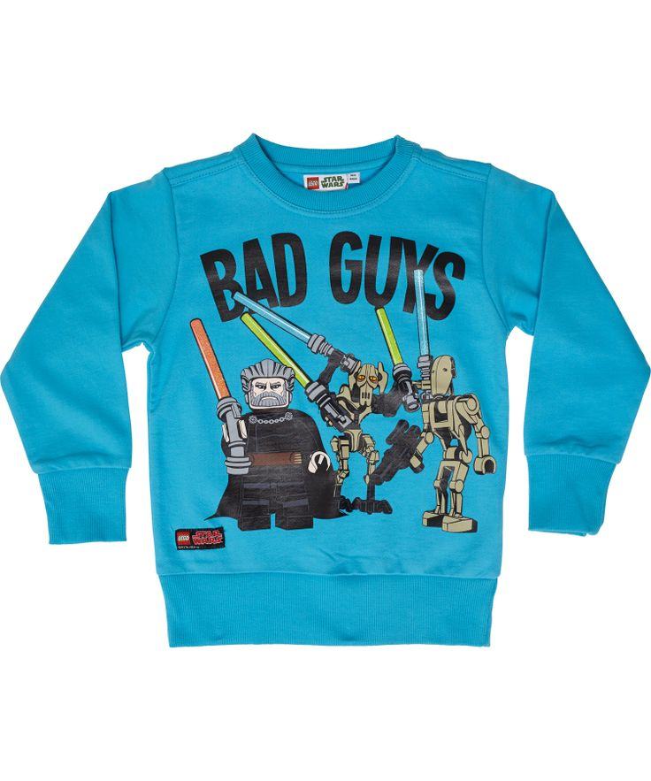 LEGO turquoise college trui voor Star Wars Bad Guys. lego-wear.nl.emilea.be