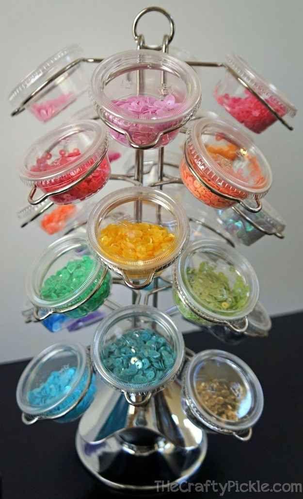 Organize your tiny craft supplies.