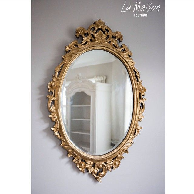 Free New Zealand Wide Delivery On All Wall Mirrors This Mirror Is Available In Gold Antique White And Black 94cm Hig In 2020 Gold Mirror Mirror French Mirror