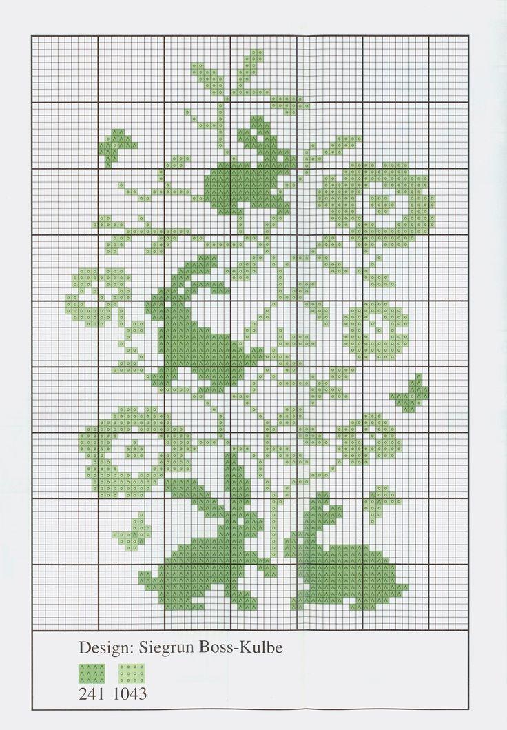 """Bunny silhouette free cross stitch pattern from http://www.coatscrafts.pl/inspiracje/Inspiracje+Coats.htm 04.04.2011 - wzór do wyhaftowania  """"Wielkanocne akcenty cz.2"""" technika: haft potrzebujesz: mulina Anchor, igła Milward, pobierz: zdjęcie (.jpg 2,50MB), schemat (.jpg, 936KB)"""