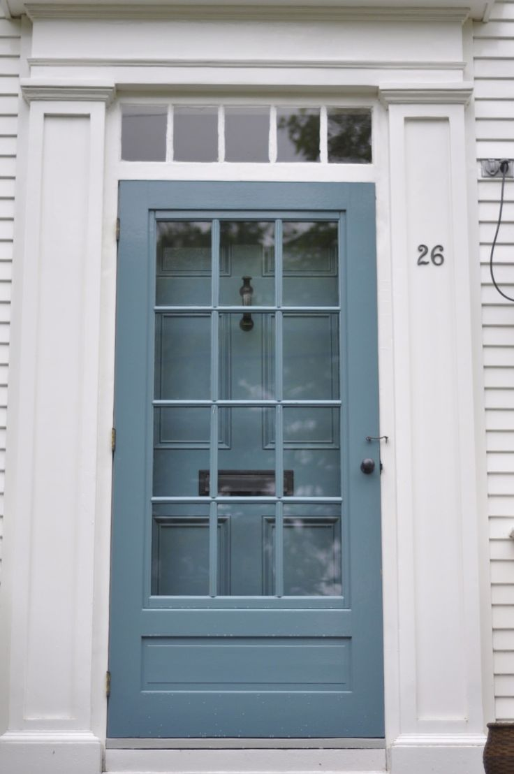 Dark blue front doors - This Looks Like My Storm Door Like What They Ve Done With The Hardware