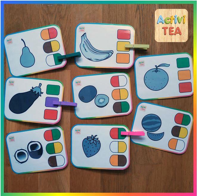 Materiales Teacch Adivina El Color De La Fruta Pictogramas Arasaac Aprendizaje De Los Números Numeros Para Niños Manualidades Educativas