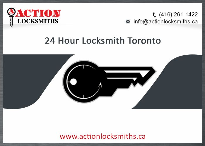 Action Locksmiths provides the variety of 24-hour locksmith services including car locksmith services in Toronto and GTA. The company has the special repute for providing dependable Emergency Locksmith services through the team of experts. The variety of 24-hour emergency locksmith services is available for commercial, industrial and residential sectors.