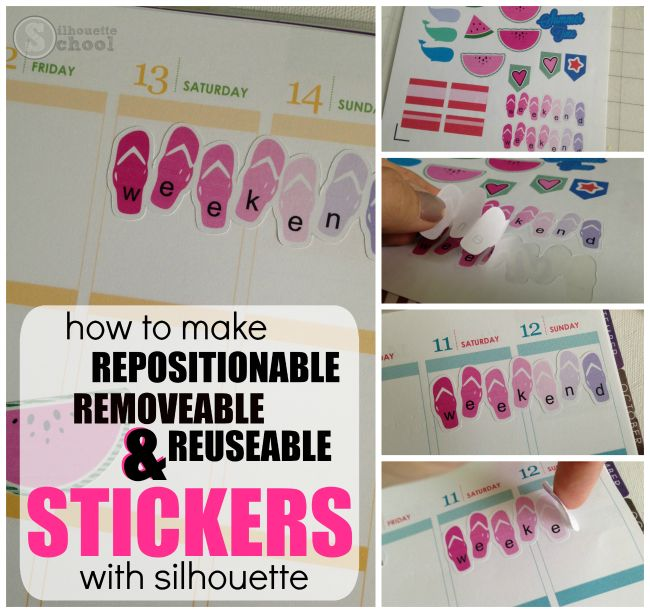 How to Make Silhouette Planner Stickers Repositionable! (and Giveaway!) | Silhouette School | Bloglovin'