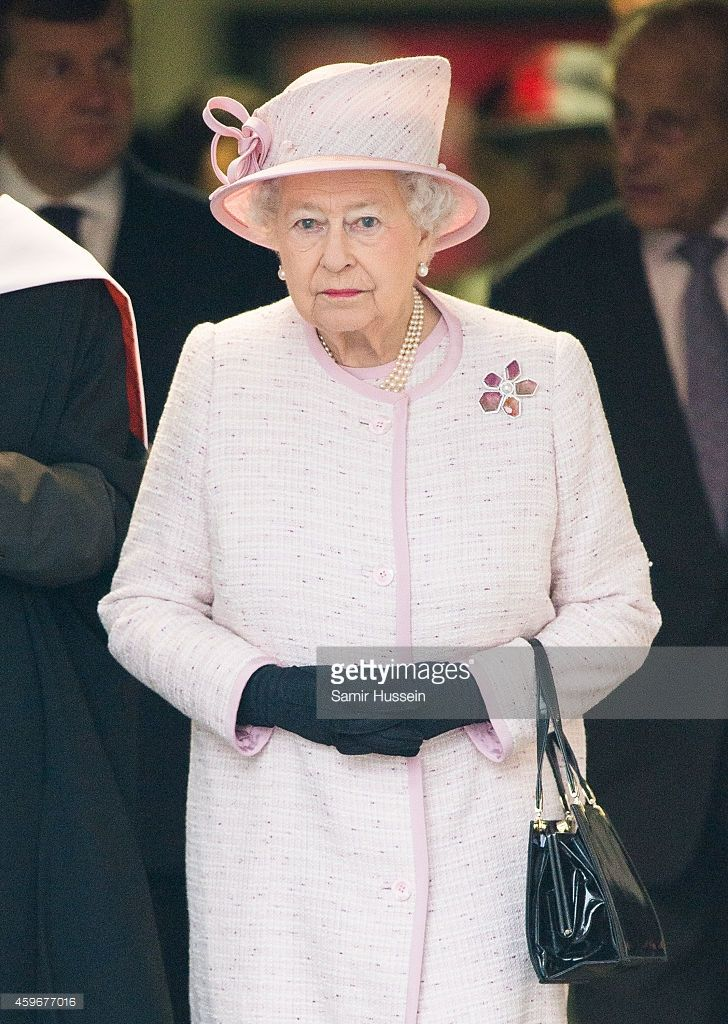 Queen Elizabeth II visits Holyport College on an official visit on November 28, 2014 in Holyport, England.