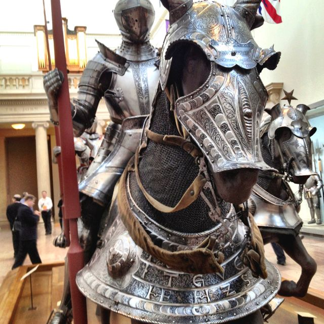 Medieval horse armor from the Metropolitan Museum of Art, NYC