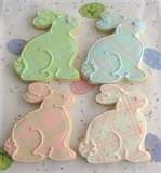 Bunny Cookies (Plaid!): Baby Showers Cookies, Easter Bunnies, Cookies Easter, Plaid Bunnies, Pastel Bunnies, Bunnies Cookies, Baby Shower Cookies, Easter Cookies, Decoration Cookies