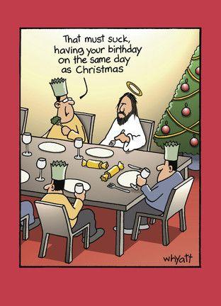 Christmas Birthday - NobleWorks - Funny Christmas Card