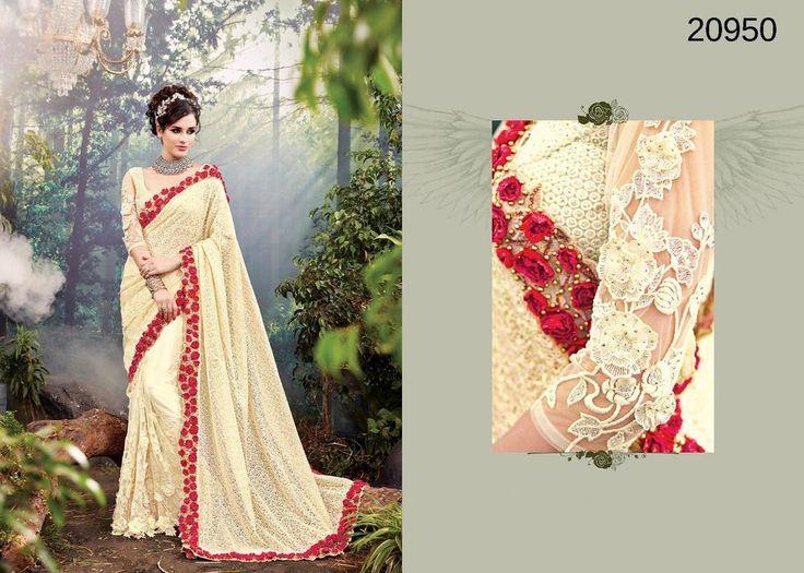 Partywear Saree Wedding Bollywood Indian Ethnic Dress Sari Designer Pakistani #TanishiFashion #DesignerSaree