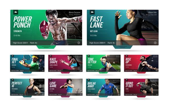 Nike+ Training by The Norik, via Behance