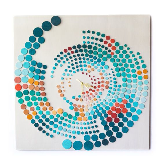 Time Elapse  Life in BOLD colors / 70x70cm /3D Wood by DecoBoxRo