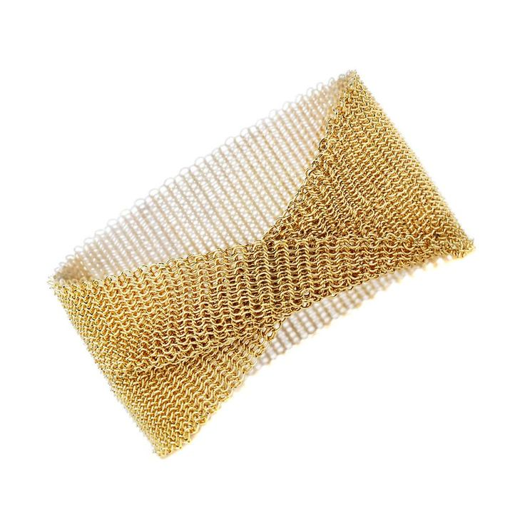 Tiffany & Co. Gold Mesh Bracelet | Opulent Jewelers