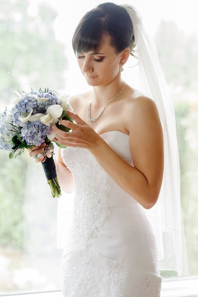 Bride next to the window - becomes engrossed in meditation :)