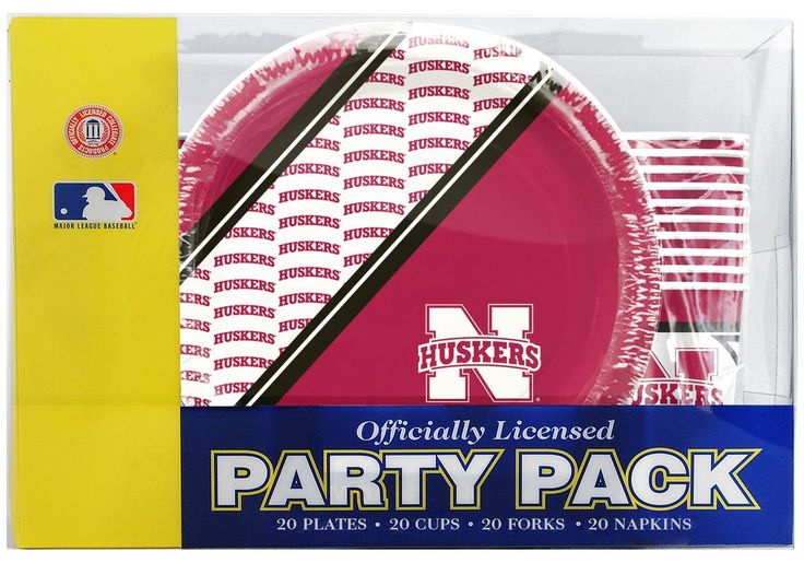 Nebraska Cornhuskers Party Pack 80 Piece