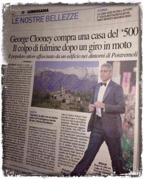 George Clooney in Lunigiana  