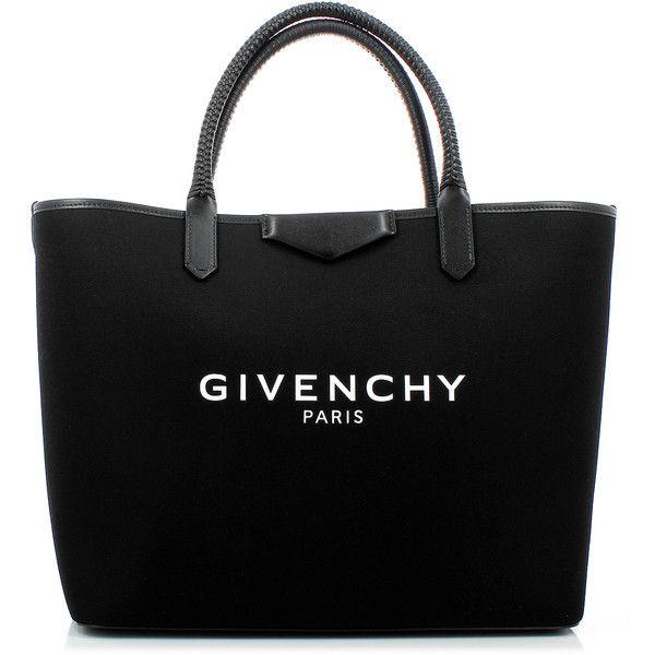 Givenchy Antigona Shopping Bag ($1,350) ❤ liked on Polyvore featuring bags, handbags, shopper tote handbags, cotton shopping bag, cotton purse, givenchy and shopping bag