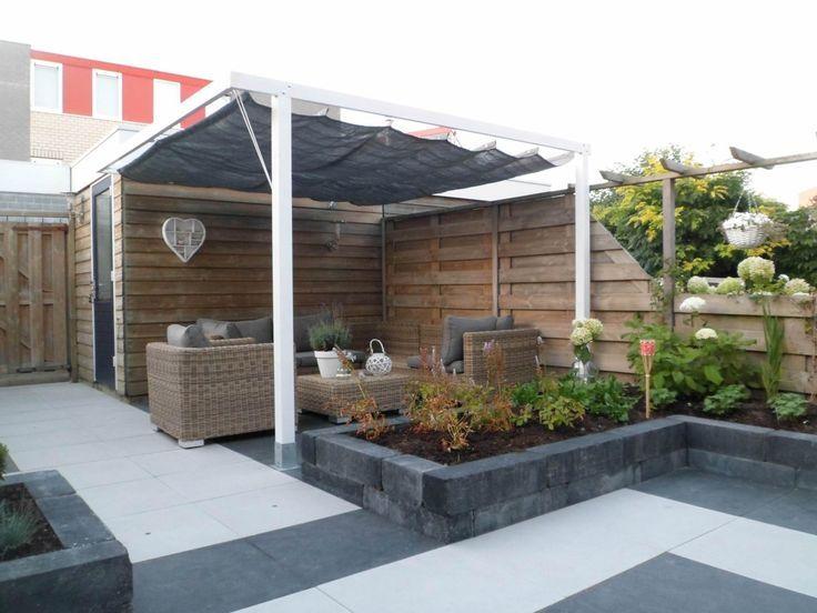 25 beste idee n over betegeld terras op pinterest pergola - Bank voor pergola ...
