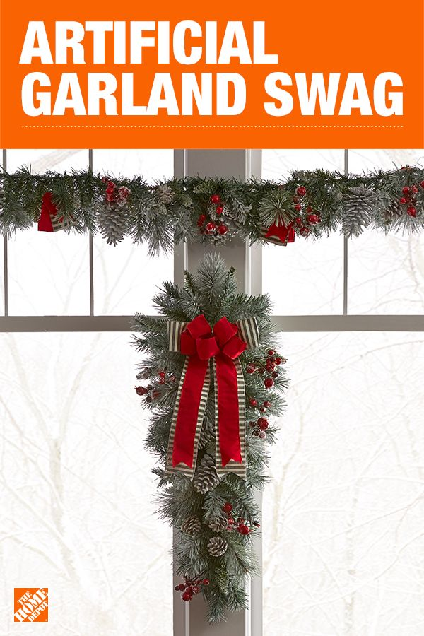 Fill every nook and cranny with gorgeous holiday greenery with a Christmas swag in any shape or size. A beautiful draped garland on the mailbox brings a smile to passersby, while a teardrop or snowflake shape looks stunning hanging in a window or over a doorway. Click to shop Christmas swag.