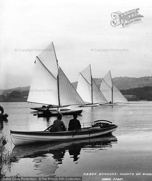 Bowness-On-Windermere, Boating 1896 #sailing #yachting #nostalgia