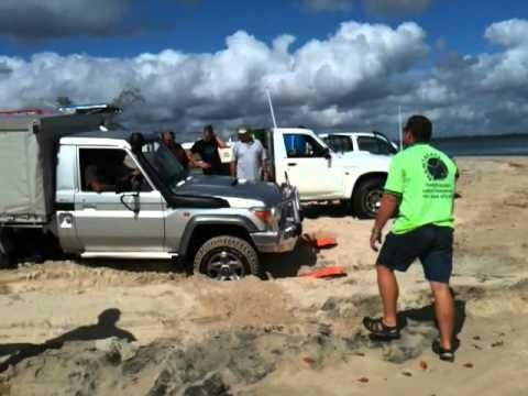 Getting the ferry at Inskip point