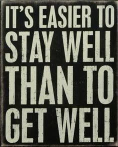 Chiro care! Stay well rather than GETTING well.