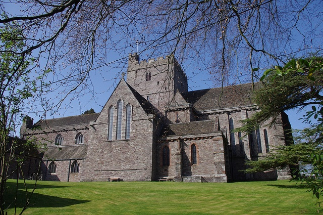 Brecon Cathedral Powys, Wales . Seat of the Anglican Bishop of Swansea and Brecon