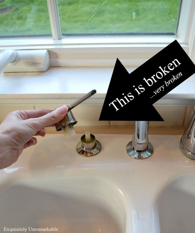 How To Replace A Soap Dispenser In The Kitchen Sink Soap