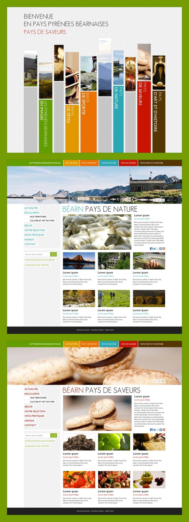 Appel d'Offre pour L'Office de Tourisme d'Oloron Sainte Marie. #website #design #UI #béarn #tourisme