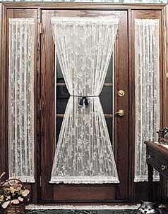 Door Curtains, French Door Curtains, Scottish Lace Panel Door Curtains